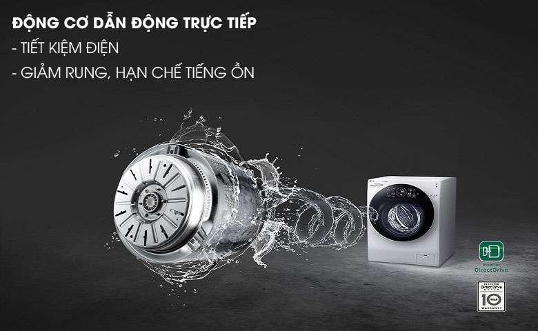 Động cơ Inverter truyền động trực tiếp - Máy giặt sấy LG Inverter 10.5 kg FG1405H3W1