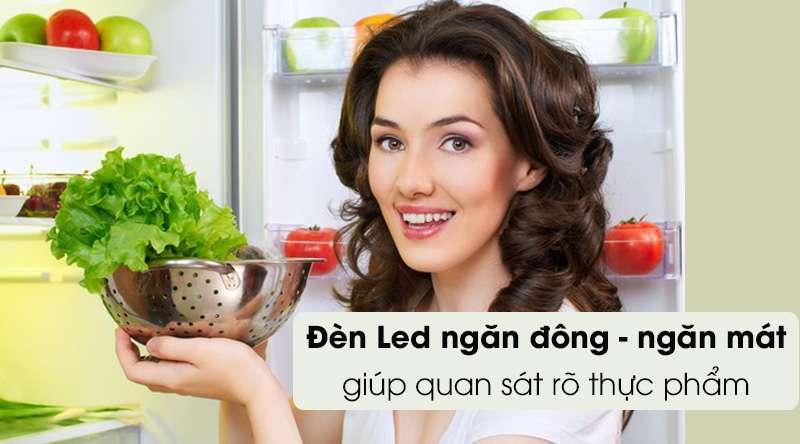 Tủ lạnh Toshiba Inverter 555 lít GR-AG58VA GG - đèn led chiếu sáng trong ngăn đông ngăn mát để quan sát rõ thực phẩm