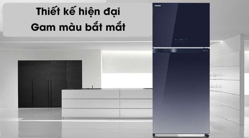 Tủ lạnh Toshiba Inverter 555 lít GR-AG58VA GG  - thiết kế hiện đại, gam màu bắt mắt